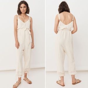 Spell Designs Milla Strappy Jumpsuit in Off-White